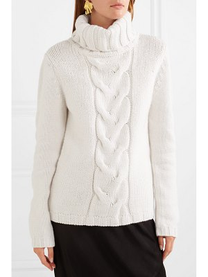 ALLUDE cable-knit cashmere turtleneck sweater