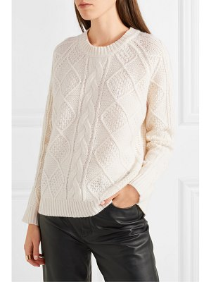 ALLUDE cable-knit merino wool sweater