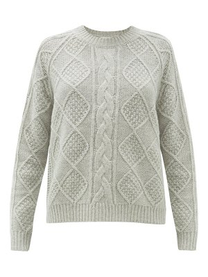 ALLUDE cable knit wool sweater