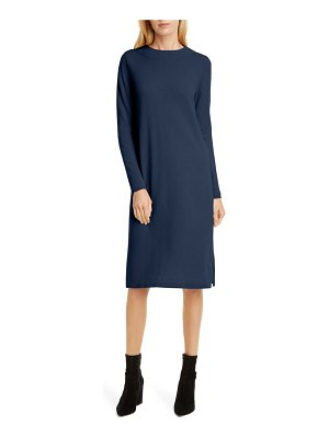 ALLUDE cashmere long sleeve sweater dress