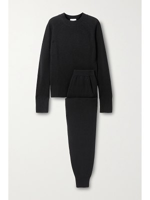 ALLUDE cashmere sweater and track pants set