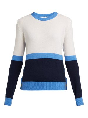 ALLUDE Colour Block Cashmere Sweater