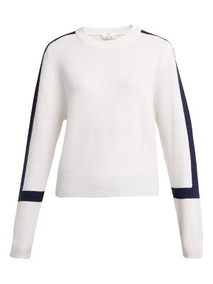 ALLUDE contrast block cashmere sweater