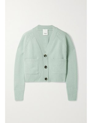 ALLUDE cropped cashmere cardigan