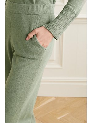 ALLUDE cropped cashmere track pants
