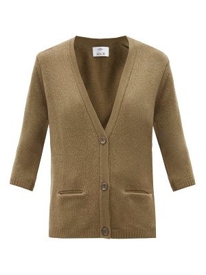 ALLUDE cropped-sleeve cashmere cardigan