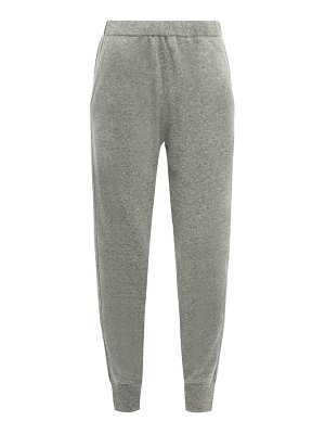 ALLUDE cuffed ankle cashmere trousers