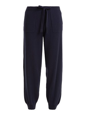 ALLUDE Drawstring-waist wool trousers
