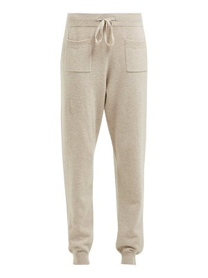 ALLUDE drawstring wool and cashmere blend track pants