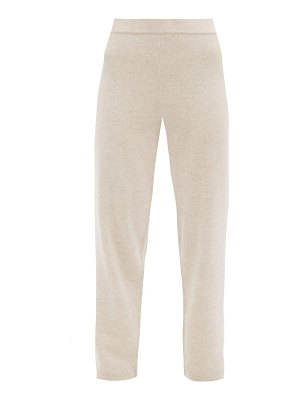 ALLUDE elasticated-waist cashmere straight-leg trousers