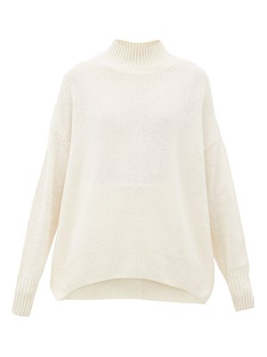 ALLUDE high-neck cashmere sweater