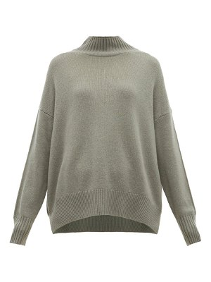 ALLUDE high neck cashmere sweater