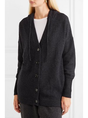 ALLUDE hooded wool and cashmere-blend cardigan