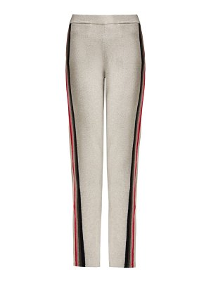 ALLUDE Intarsia Stripe Wool Blend Track Pants