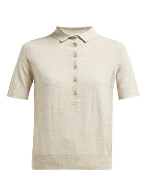 ALLUDE jersey polo shirt