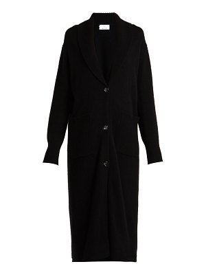ALLUDE Long wool and cashmere-blend cardigan