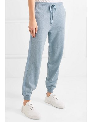 ALLUDE metallic wool and cashmere-blend track pants