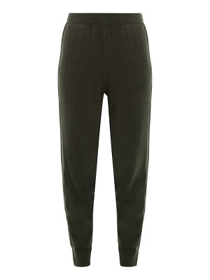ALLUDE mid rise cashmere track pants