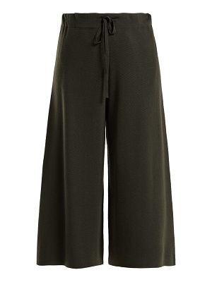 ALLUDE Milano-knit wool culottes