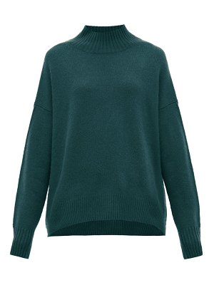 ALLUDE mock-neck cashmere sweater