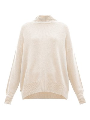 ALLUDE oversized high neck cashmere sweater