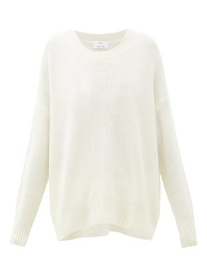 ALLUDE oversized round-neck cashmere sweater