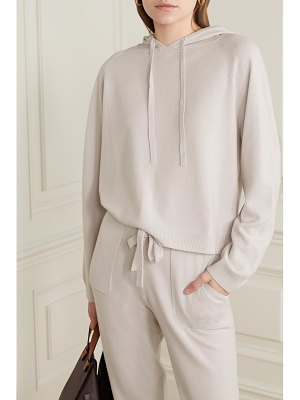 ALLUDE oversized wool and cashmere-blend hoodie