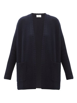 ALLUDE ribbed-knit cashmere cardigan