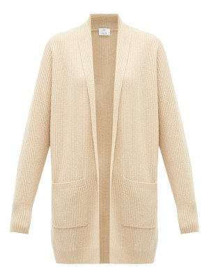 ALLUDE rib knitted cashmere cardigan
