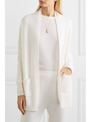 ALLUDE ribbed cashmere cardigan