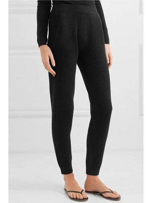 ALLUDE ribbed cashmere track pants