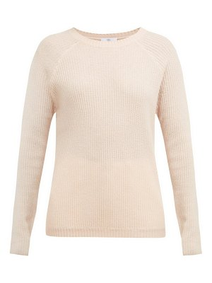 ALLUDE ribbed fine knit cashmere sweater