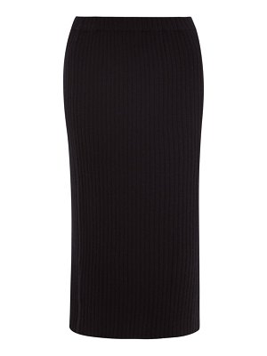 ALLUDE ribbed-knit cashmere midi skirt