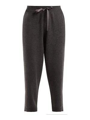 ALLUDE Ribbon-drawstring cropped trousers
