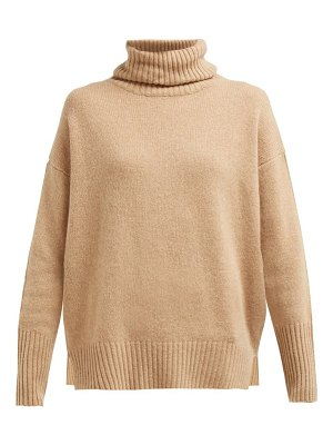 ALLUDE roll neck cashmere sweater