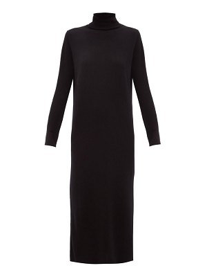 ALLUDE roll-neck cashmere sweater dress