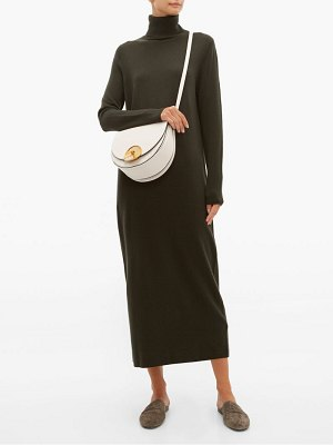 ALLUDE roll neck cashmere sweater dress