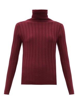 ALLUDE roll-neck ribbed-wool sweater
