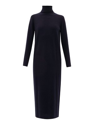 ALLUDE roll-neck wool-blend sweater dress
