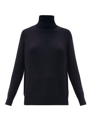 ALLUDE roll-neck wool-blend sweater