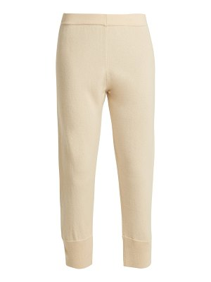 ALLUDE Straight-leg cashmere track pants