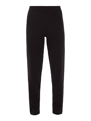 ALLUDE straight-leg cashmere trousers