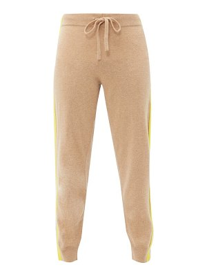 ALLUDE striped trim wool blend sweatpants