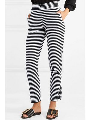 ALLUDE striped wool and cashmere-blend pants