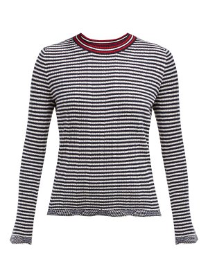 ALLUDE striped wool blend sweater