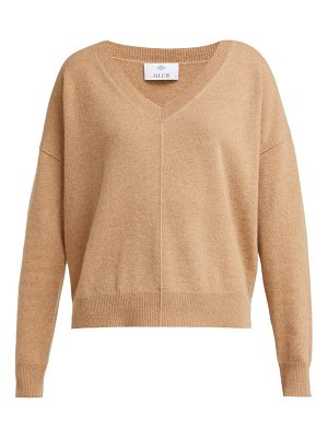 ALLUDE V Neck Cashmere Sweater