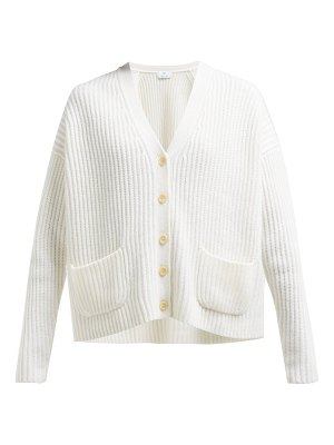 ALLUDE v neck ribbed cashmere cardigan