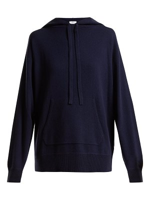 ALLUDE Wool and cashmere-blend hooded sweater