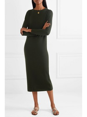 ALLUDE wool and cashmere-blend midi dress