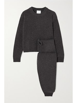 ALLUDE wool and cashmere-blend sweater and track pants set